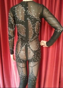 DaNeeNa M535T Cher Nude If I could Turn Back Time Bodysuit