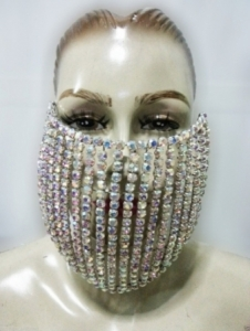 J024 Swarovski Crystal Mouth Mask