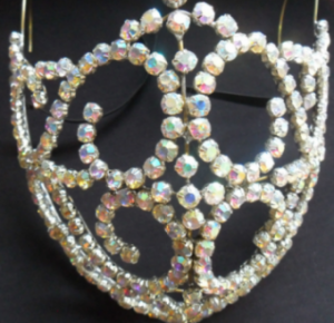 J023 Swarovski Crystal Mouth Mask