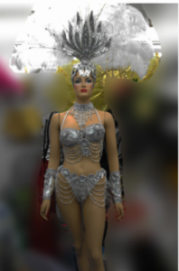 T0044 Vegas Showgirl Headdress Costume Set