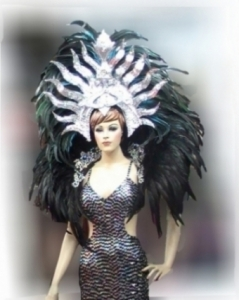 B005 Fire Sun Headdress Backpiece