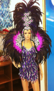 C041 feather costume set