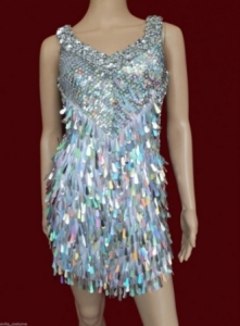 M009 Silver Sequin Dress