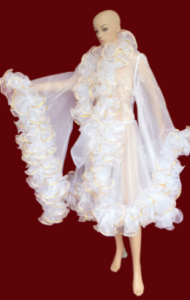 C002A Sequin Trimmed Ruffle Showgirl Coat