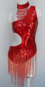R4 Red Showgirl Leotard