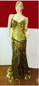 G026G Sequins Gown Jacket