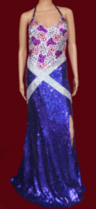 G027B Chess Candy Sequin Gown