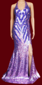 G027 Sequin Spider Gown