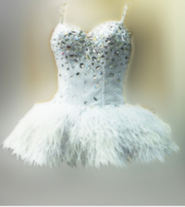 M057S Ostrich Feather Dress
