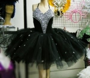 M057B Ballet Sequin Dress