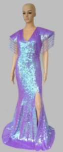 G028 Victroria Sequin Gown
