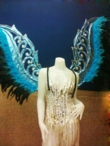 C055 Blue Angel Feather Angel Wings Costume Set