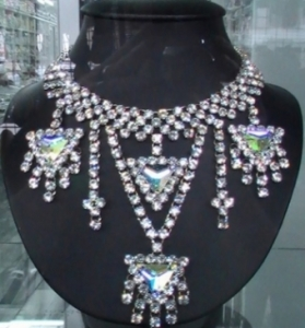J071 Party Showgirl Crystal Necklace