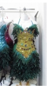 M075 Showgirl Feather Crystal Showgirl Dress