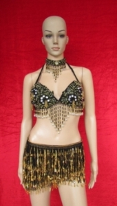 N003 Party Latin Dance Princess Sequin Costume