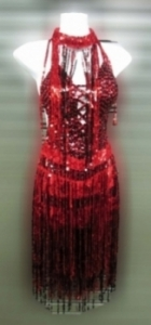 M088 Fire Red Impassioned Dress