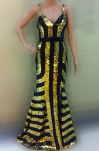 G036 Egypt Gold Cleopatra Dress Gown