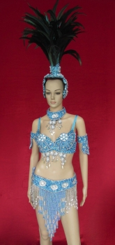 T0266 Carnival Rio Dancer Headdress Costume Set