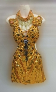 M092 Sunflower with the Stars dress
