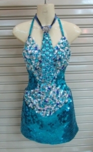 M094 Business Girl Crystal Sequin dress
