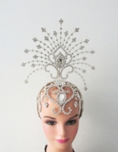 H129 Crystal The Ocean Star Princess Tiara Showgirl Headdress