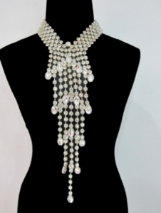 J077 Party Crystal Necktie Necklace