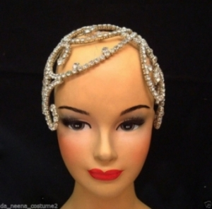 HQC1 Crystal Princess Showgirl Headdress Crown Tiara