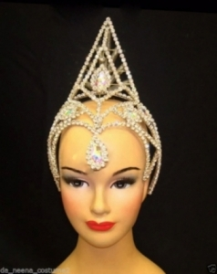 HQC2 Princess Showgirl Headdress Crown Tiara