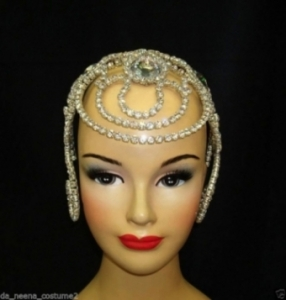 HQC3 Crystal Princess Showgirl Headdress Crown Tiara
