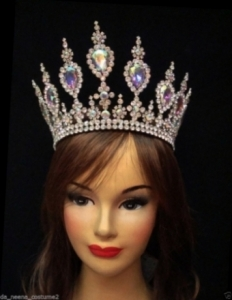 HQC10 America Princess Crystal Showgirl Headdress Crown