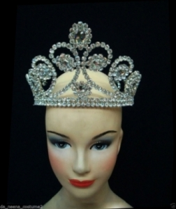 HQC11 Princess Crystal Showgirl Headdress Crown