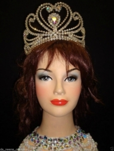 HQC13 Miss Universe World Crystal Showgirl Headdress Crown