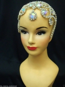 HQC17 Princess Crystal Showgirl Headdress Crown