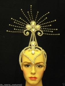 HQC19 Princess Crystal Star Showgirl Headdress Crown
