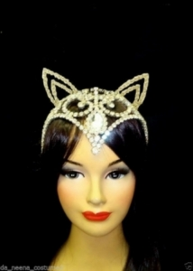 HQC20 CAT FOX Crystal Star Showgirl Headdress Crown