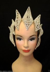 HQC13 America Princess Crystal Showgirl Headdress Crown
