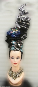 H202 Queen of Precious Jewel Crystal Showgirl Headdress