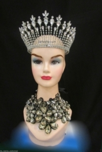 Da NeeNa HQC21 Miss Universe World America Princess Crystal Showgirl Headdress Crown