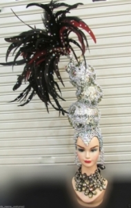 H198 Mountain Queen Crystal Feather  pageant Showgirl Headdress