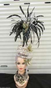 H196 Moving Angel Crystal feather Showgirl Headdress