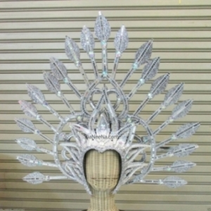 H188 Queen of Arrows  Crystal Showgirl Headdress