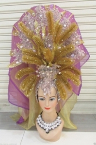 H192 Queen of The jungle Crystal Bride Showgirl Headdress