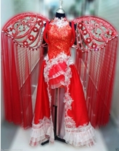 C0577 Red Chinese Asian Angel Angel Wings