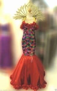 C116 Red Flower Costume Set
