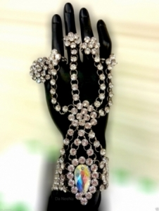 HQC15003 Princess of The Ring Showgirl Bracelet Crystal Showgirl Headdress