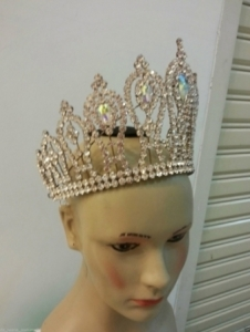 HQC15005 King of The Lady and Gentleman Crystal Showgirl Headdress