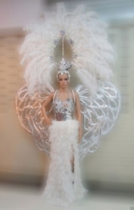 Da NeeNa C517 Grand White  Showgirl Headdress Angel Wings Costume Set