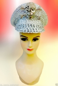 H521 Pirate Lady  Crystal Showgirl Headdress
