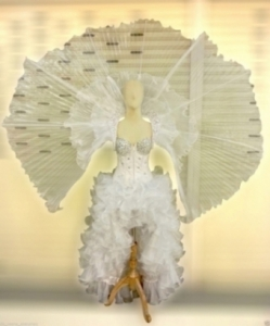 C523 Flying White Angel  Costume Set