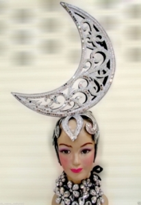 H547 The Charming Moon Crystal Showgirl Headdress